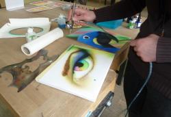 Airbrush in der Kunstschule Balingen