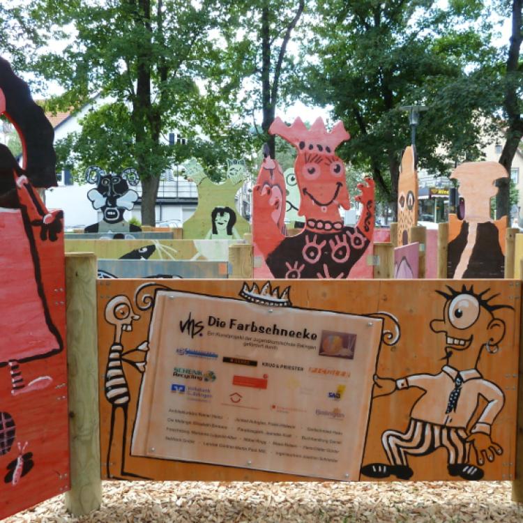 Die Farbschnecke der Jugendkunstschule der vhs Balingen